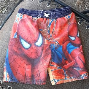boys Spiderman swimming trunks Size 4T